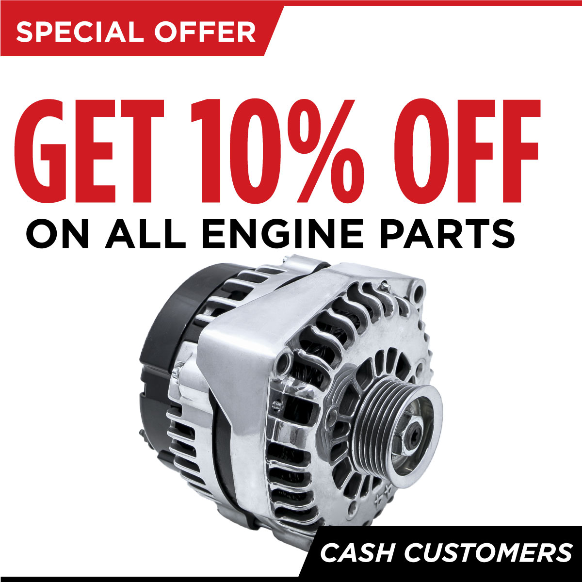 10% off all engine parts