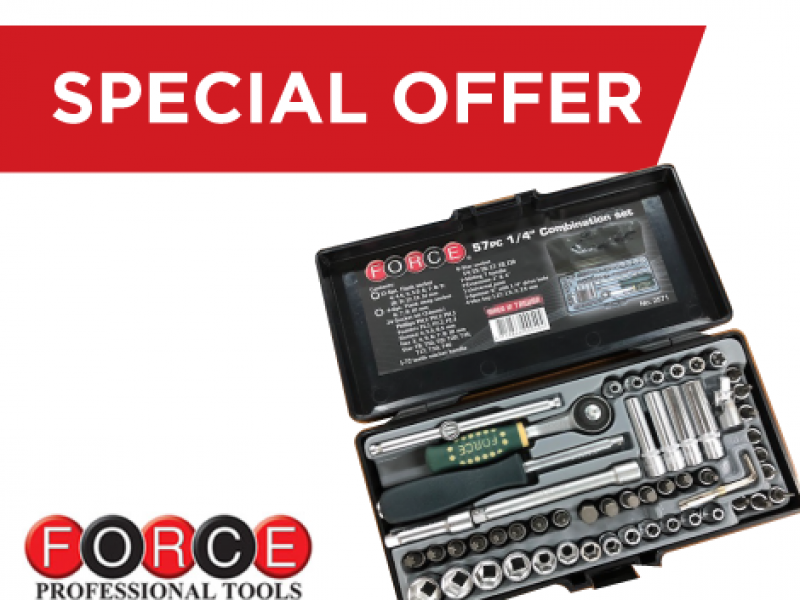 "Force - 1/4"" Socket set 57pc"
