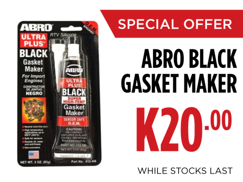 ABRO Ultra Plus® Black RTV Silicone Gasket Maker